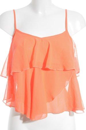 Tally Weijl Top linea A arancio neon stile casual