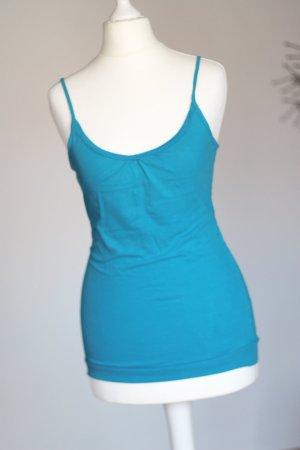 Tally Weijl Haut à fines bretelles bleu acier-bleuet