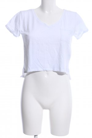 Tally Weijl Camicia cropped bianco stile casual