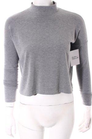 Tally Weijl Cropped Shirt grau klassischer Stil