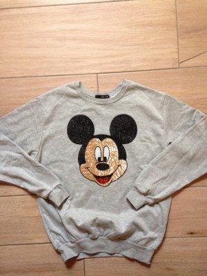 Tally Weijl Disney Micky Maus Pulli Pullover Größe S hellgrau