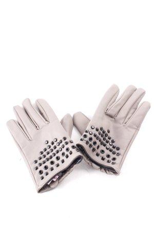 Tally Weijl Gant à doigts gris brun style mode des rues