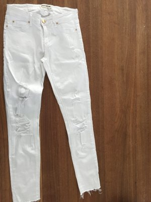 Tally Weijl Skinny Jeans white cotton