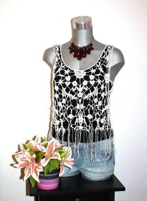 Tally Weijl Crochet Top multicolored