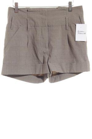 Tally Weijl High-Waist-Shorts graubraun-grau Karomuster Elegant