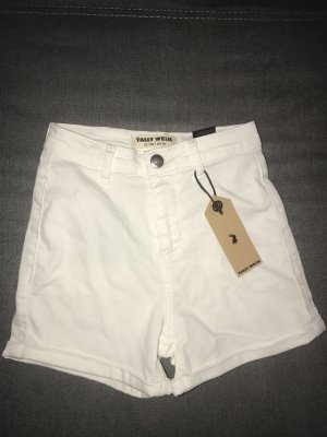 Tally Weijl High Waist Shorts Weiß White Gr. 34