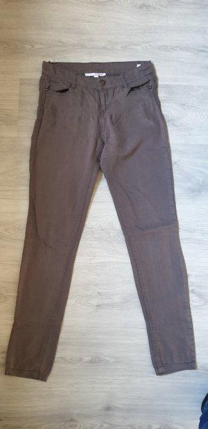 Tally Weijl Pantalone a sigaretta marrone-grigio