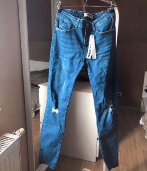 Tally Weijl Jeans Blau Skinny Destroyed Neu