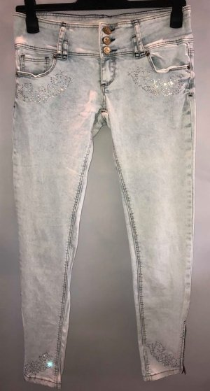 Tally Weijl 3/4-jeans azuur-zilver Katoen