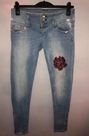 Tally Weijl Jeans in gr 40 Rose Strass Farbe Blau