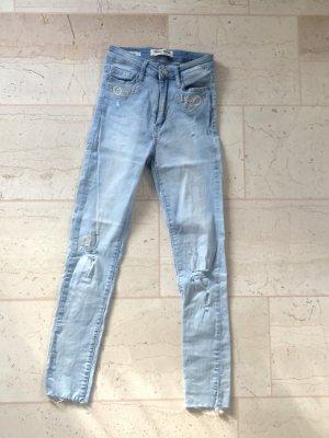 Tally Weijl Hoge taille jeans azuur-wolwit Katoen