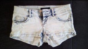 Tally Weijl Short en jean blanc-bleu foncé