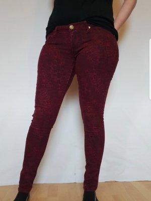 Tally Weijl Drainpipe Trousers black-bordeaux