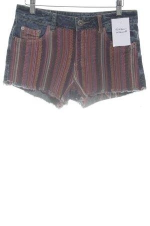 Tally Weijl Pantalón corto de tela vaquera estampado a rayas estampado azteca