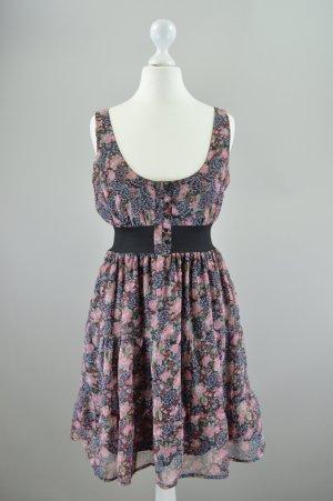 Tally Weijl Kleid mit Blumenmuster mehrfarbig Größe 34