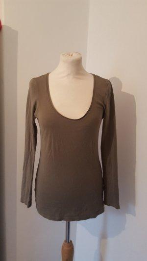 Tally Weijl Langarmshirt Basic Shirt Größe L khaki Damen