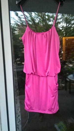 Tally Weijl Vestido estilo camisa rosa neón Poliéster