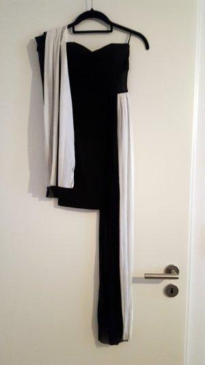 Tally Weijl Minikleid 32/XS, schwarz mit leichten Stoffbändern in Schwarz & Weiss
