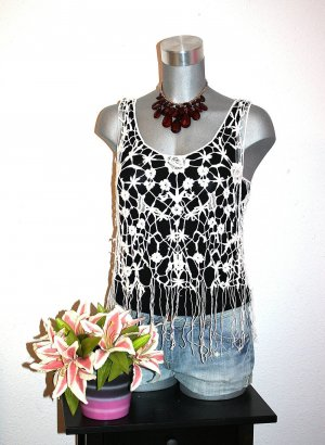 Tally Weijl Netz Top Shirt gr.38 Sexy Design