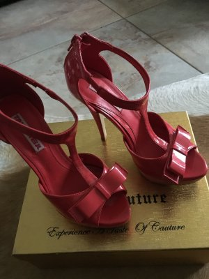 TALLY WEIJL PLATEAU PUMPS STILETTOS High HEELS KORALLE ROT