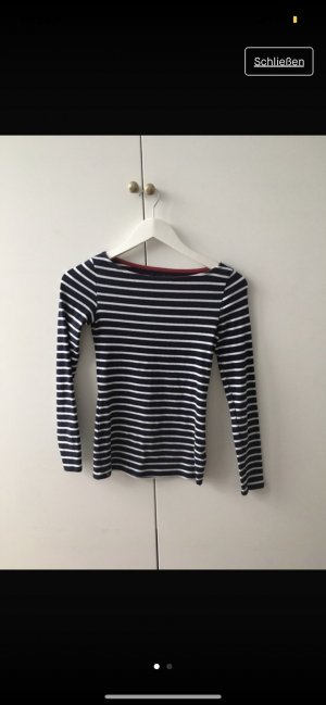 Tally Weijl Short Sleeve Sweater white-dark blue
