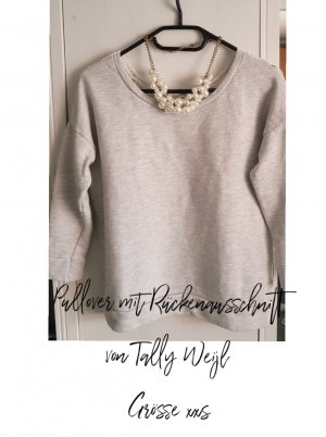 Tally Weijl Short Sleeve Sweater white-grey