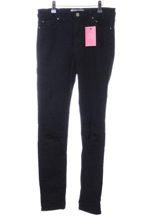 Tally Weijl Skinny Jeans schwarz schlichter Stil