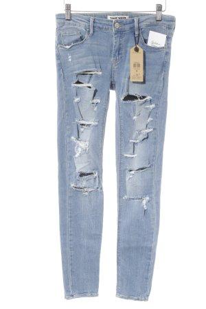 Tally Weijl Skinny Jeans hellblau Destroy-Optik