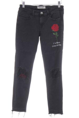Tally Weijl Skinny Jeans schwarz Urban-Look