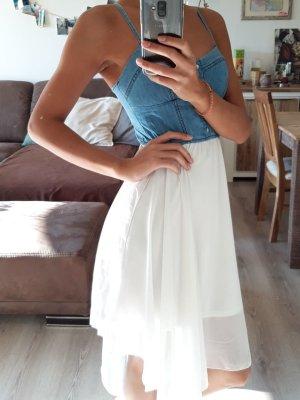 Tally Weijl Vestido babydoll blanco-azul aciano