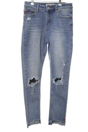 Tally Weijl Straight-Leg Jeans blau Casual-Look