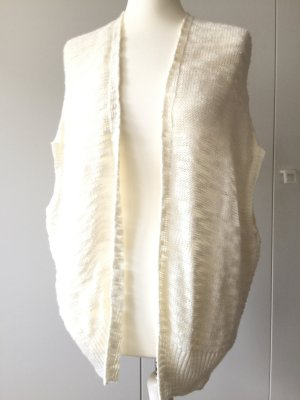 Tally Weijl Short Sleeve Knitted Jacket natural white-cream