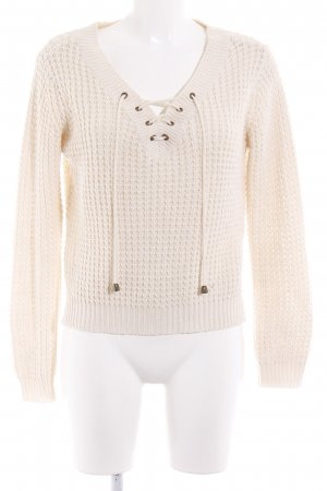 Tally Weijl Strickpullover creme Casual-Look
