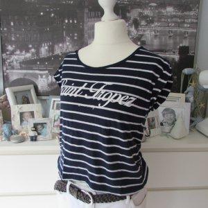 Tally Weijl * Süßes maritimes Cropped Shirt * dunkelblau-weiß gestreift * S=36/38