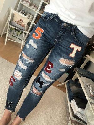 Tally Weijl Jeans a sigaretta blu-bianco