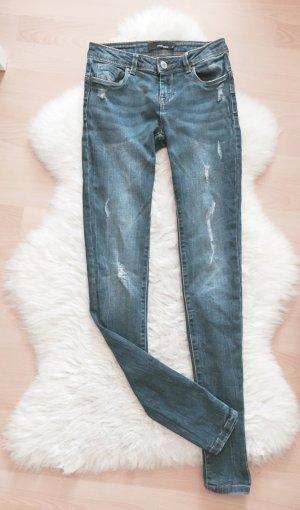 Tally Weijl Super Skinny Jeans Destroyed Push Up Effekt Ripped Gr.XS