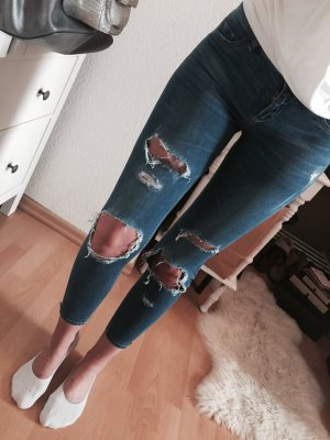 Tally Weijl Super Skinny Jeans Destroyed Push Up Effekt Ripped Gr.XS