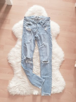 Tally Weijl Super Skinny Jeans Ripped Blogger Destroyed Gr.XS