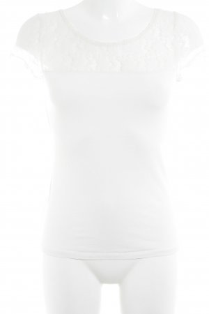Tally Weijl T-Shirt creme Romantik-Look