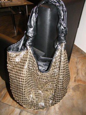 Tally Weijl Tasche Pailetten schwarz gold