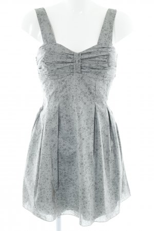 Tally Weijl Trägerkleid grau-dunkelgrau Blumenmuster Casual-Look