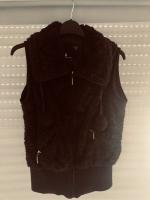 Tally Weijl Fur vest dark brown