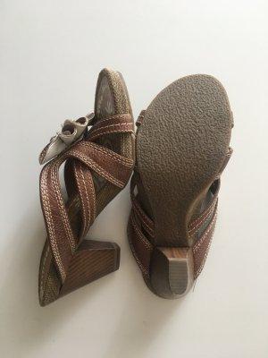 Tamaris Clog Sandals multicolored leather