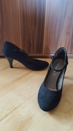 on sale 11ed8 b95b9 Tamaris Strapped pumps black leather