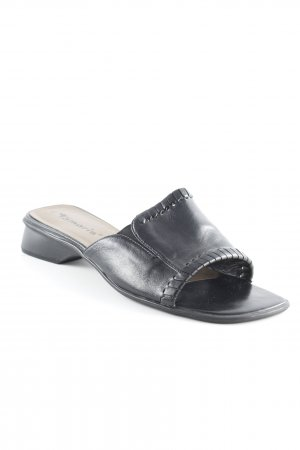Tamaris Absatz Pantoletten schwarz-bronzefarben Casual-Look