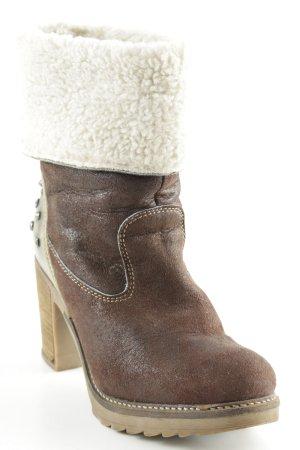 Tamaris Absatz Stiefel braun-creme Casual-Look
