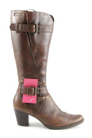 d3db4d62d4fb8 Tamaris Absatz Stiefel bronzefarben Business-Look