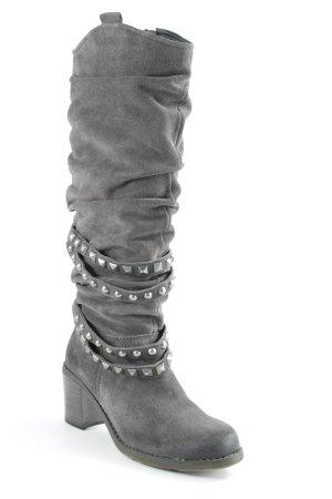 Tamaris Absatz Stiefel grau Punk-Look