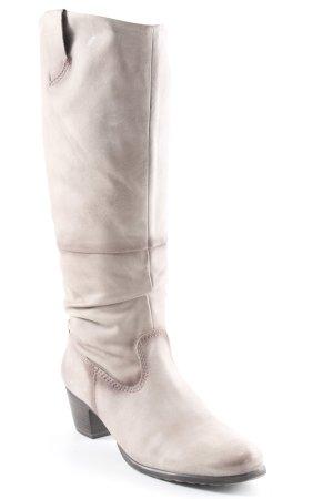 Tamaris Absatz Stiefel graubraun-hellbraun schlichter Stil