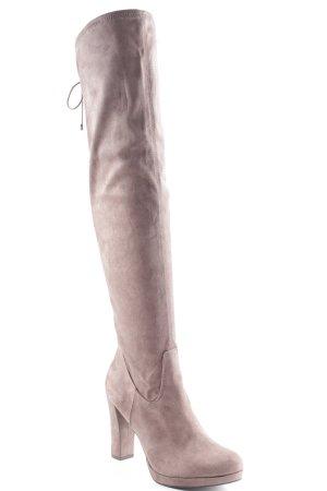 Tamaris Heel Boots grey brown nude look